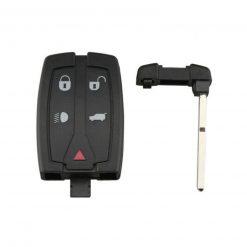 5 Button Dash Remote Key Fob Case Shell for Land Rover Freelander 2 w/ Blade 1