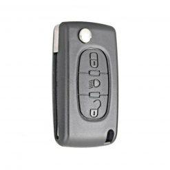 3 Button Light Replacement Remote Key Fob Case for Citroen C4 C5 C6 Picasso w/ Logo