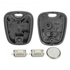 2 Button Remote Key Fob Case Refurbishment Repair Kit For Peugeot 106 206 306 3
