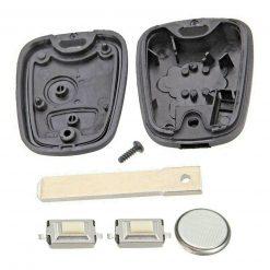 2 Button Remote Key Fob Case Repair Kit for Citroen C1 C2 C3 Pluriel Logo 2