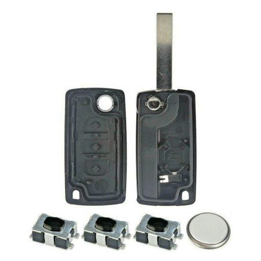 3 Button Remote Key Fob Case Repair Kit for Citroen Dispatch Peugeot Partner VAN 1