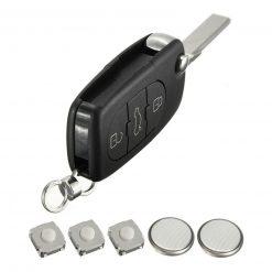 3 Button Remote Flip Key Fob Case Cover Repair Kit For Audi A2 A3 A4 A6 A8 TT 6