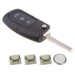 3 Button Remote Key Fob Case Repair Kit for Ford Focus Mondeo Ecosport 3