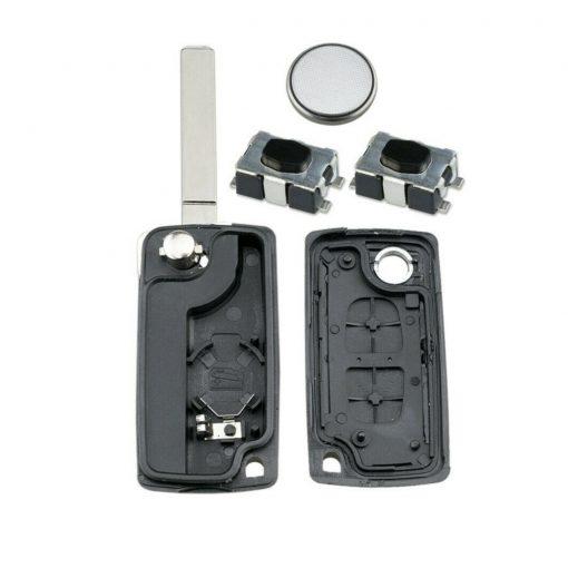 2 Button Remote Key Fob Case Repair Kit For Citroen Berlingo C2 C4 C3 Pluriel 2