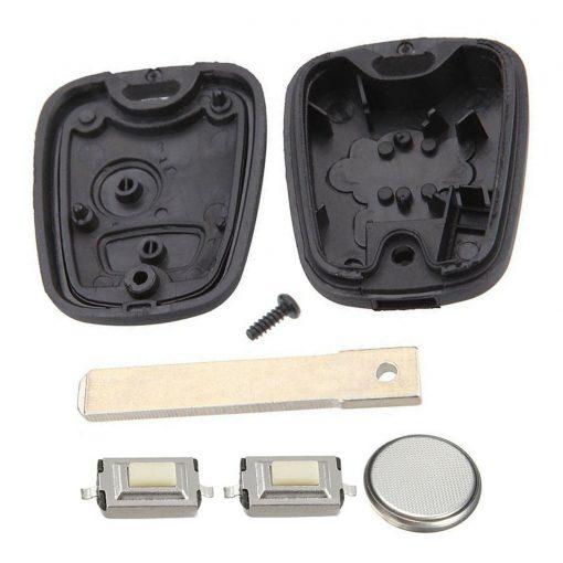 2 Button Remote Key Fob Case Repair Kit for Citroen C1 C2 C3 C4 Picasso w/ Logo 4