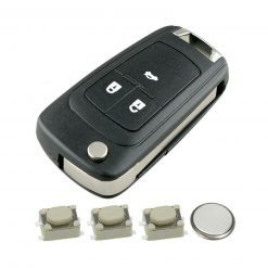 3 Button Remote Key Fob Case Repair Kit for Vauxhall Opel Astra J Insignia A Cascade 7