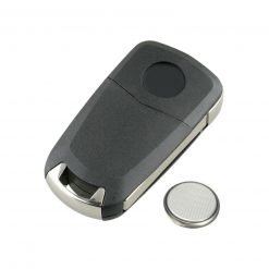 2 Button Remote Car Key Fob Case w/ Battery for Vauxhall Opel Zafira B Vectra C 1