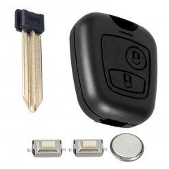 2 Button Remote Key Fob Case FULL Repair Kit Fits Citroen Xsara Picasso Berlingo 1