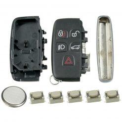 5 Button Remote Key Fob Case Repair Kit for Range Rover Evoque Sport Vogue 1