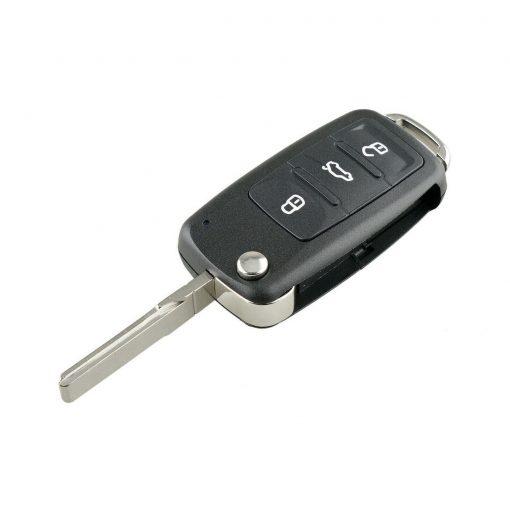 3 Button Remote Flip Key Fob Case Shell w/ Logo for Volkswagen VW Touareg 2002 - 2010 4