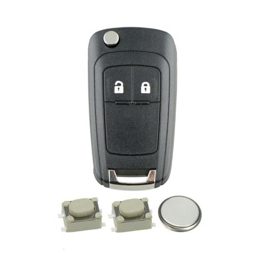 2 Button Flip Remote Car Key Fob Case Repair Kit for Vauxhall Opel Astra Insigina