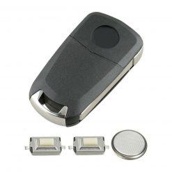 2 Button Remote Flip Car Key Fob Case DIY Repair Kit for Vauxhall Opel Zafira Vectra 1
