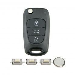 3 Button Remote Key Fob Case Repair Kit for Hyundai I20 IX20 I30 IX35 Veloster