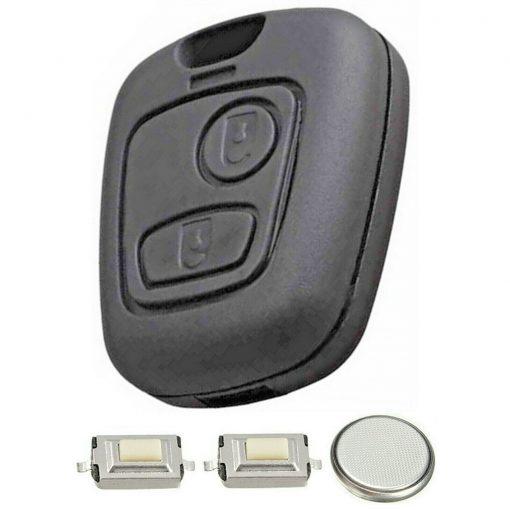 2 Button Remote Key Fob Case Refurbishment Repair Kit For Peugeot 106 206 306 4
