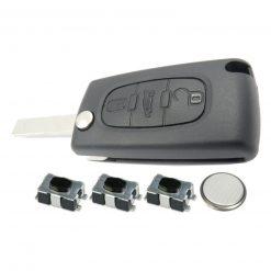 3 Button Remote Key Fob Case Repair Kit for Citroen Dispatch Peugeot Partner VAN