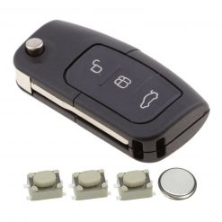 3 Button Remote Key Fob Case Repair Kit for Ford Focus Mondeo Ecosport 4
