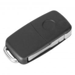 3 Button Remote Flip Key Fob Case Shell w/ Logo for Volkswagen VW Touareg 2002 - 2010 2