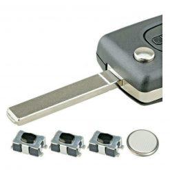 3 Button Light Remote Flip Key Fob Case Repair Kit Logo for Citroen C4 C6 Picasso 7