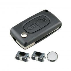 2 Button Remote Key Fob Case Repair Kit For Citroen Berlingo C2 C4 C3 Pluriel 7