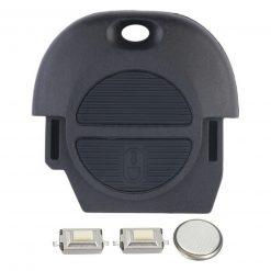 2 Button Remote Key Fob Case Repair Kit for NATs Nissan MICRA ALMERA PRIMERA X-TRAIL