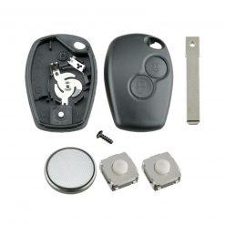 2 Button Remote Key Fob Case Repair Kit For Renault Trafic Clio Master Kangoo 1