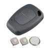 2 Button Remote Key Fob Case DIY Repair Kit for Renault Traffic Kangoo Master