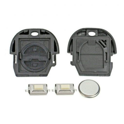 2 Button Remote Key Fob Case Repair Kit for NATs Nissan MICRA ALMERA PRIMERA X-TRAIL 1