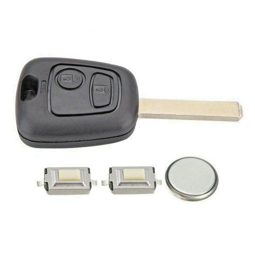 2 Button Remote Key Fob Case Repair Kit for Citroen C1 C2 C3 Pluriel Logo 3