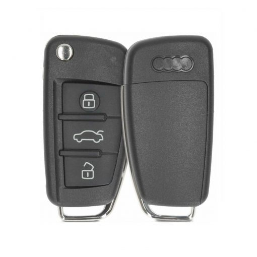 3 Button Remote Flip Car Key Fob Blank Case Shell For For Audi A3 A4 A6 Q7 TT