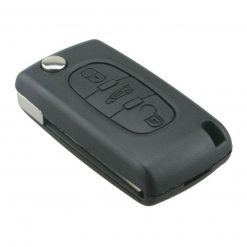 3 Button Replacement Remote Key Fob Case for Peugeot 207 307 308 407 408 w/ Logo