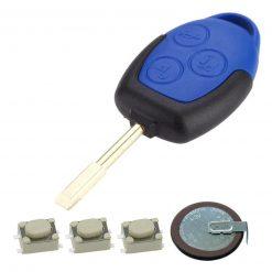 Blue Remote Key Fob Case Battery VL2330 Repair Kit Ford Transit MK7