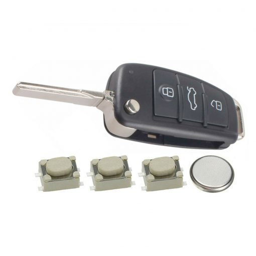 3 Button Remote Car Key Fob Case Cover DIY Service Repair Kit for Audi A3 A4 A6 Q7 TT 3