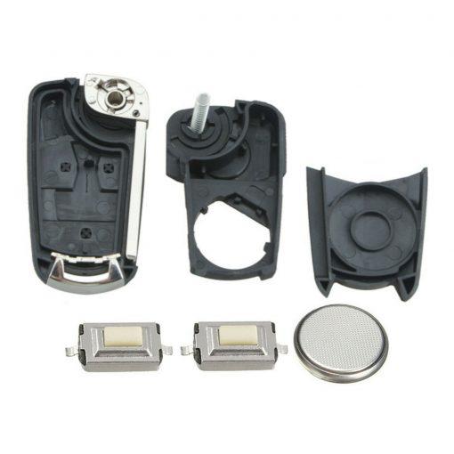 2 Button Remote Flip Car Key Fob Case DIY Repair Kit for Vauxhall Opel Zafira Vectra 2