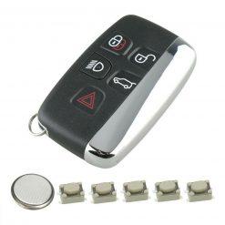 5 Button Remote Key Fob Case Repair Kit for Jaguar F-Type F-Pace XE XF XJ
