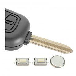 2 Button Remote Key Fob Case FULL Repair Kit for Peugeot Partner Boxer Expert 1