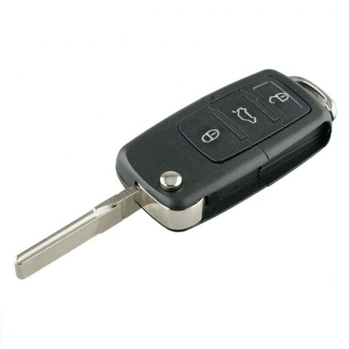 Replacement 3 Button Remote Flip Key Fob Case for VW Volkswagen Golf MK5 2