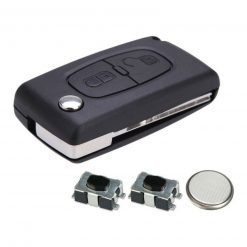2 Button Remote Key Fob Case Repair Kit For Peugeot 207 307 308 807 3008 5008 HU83
