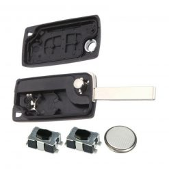 2 Button Remote Key Fob Case Repair Kit For Peugeot 207 307 308 807 3008 5008 HU83 2
