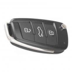 3 Button Remote Flip Car Key Fob Blank Case Shell For For Audi A3 A4 A6 Q7 TT 2