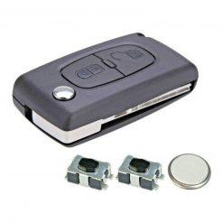 2 Button Replacement Remote Key Fob Case Repair Kit for Citroen Dispatch C8 5