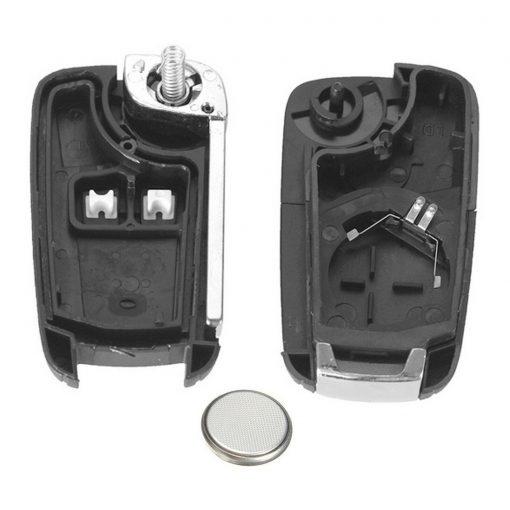 2 Button Remote Car Key Fob Case w/ Battery for Vauxhall Opel Corsa D Corsa E Mokka 3