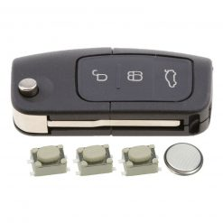 3 Button Remote Key Fob Case Repair Kit for Ford Focus Mondeo Ecosport