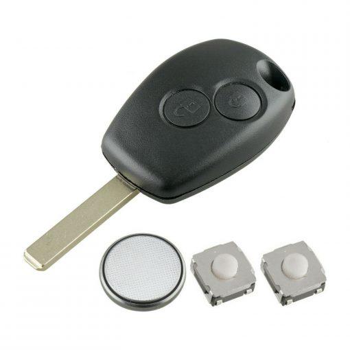 2 Button Remote Key Fob Case Repair Kit For Renault Trafic Clio Master Kangoo 5