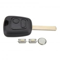 2 Button Remote Key Fob Case Repair Kit for Toyota Aygo Switches & Battery