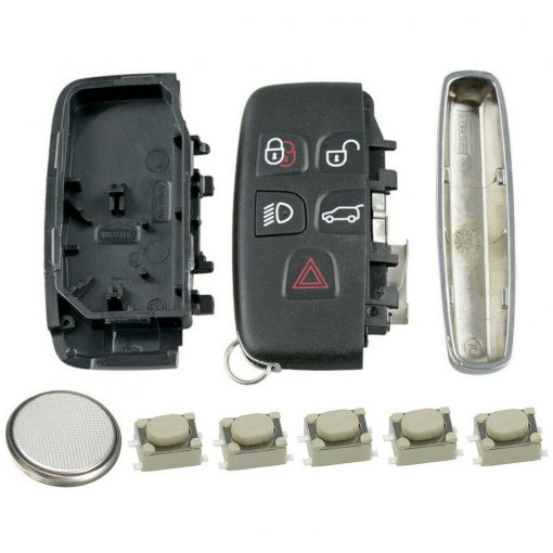5 Button Remote Key Fob Case Repair Kit for Jaguar F-Type F-Pace XE XF XJ 2