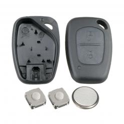 2 Button Remote Key Fob Case DIY Repair Kit for Renault Traffic Kangoo Master 1