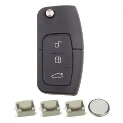 3 Button Remote Key Fob Case Repair Kit for Ford Focus Mondeo Ecosport 2