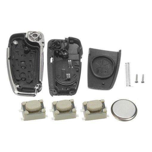 3 Button Remote Car Key Fob Case Cover DIY Service Repair Kit for Audi A3 A4 A6 Q7 TT 1