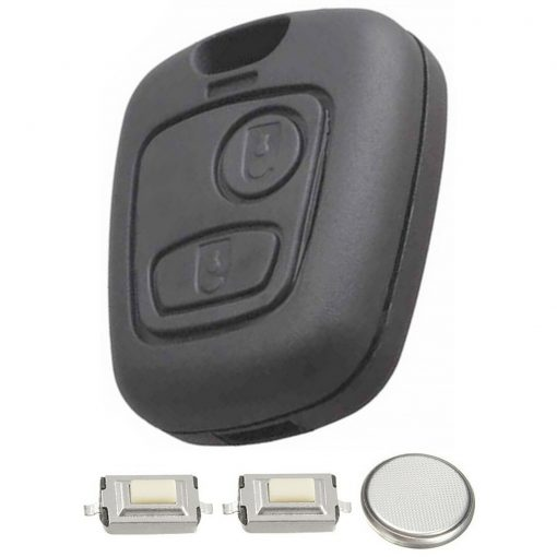 DIY Repair Kit 2 Button Remote Car Key Fob Case with Blade for Peugeot 107 207 307 2