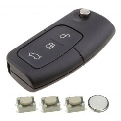 3 Button Remote Key Fob Case Repair Kit for Ford Focus Mondeo Ecosport 9